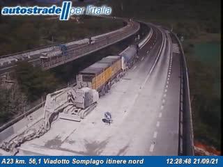 A23 km. 56,1 Viadotto Somplago